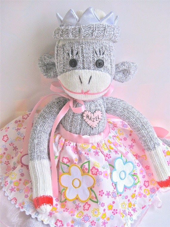 Sockmonkey Princess CUSTOMIZED FOR YOU