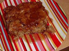 Apple Cake w/Sauce