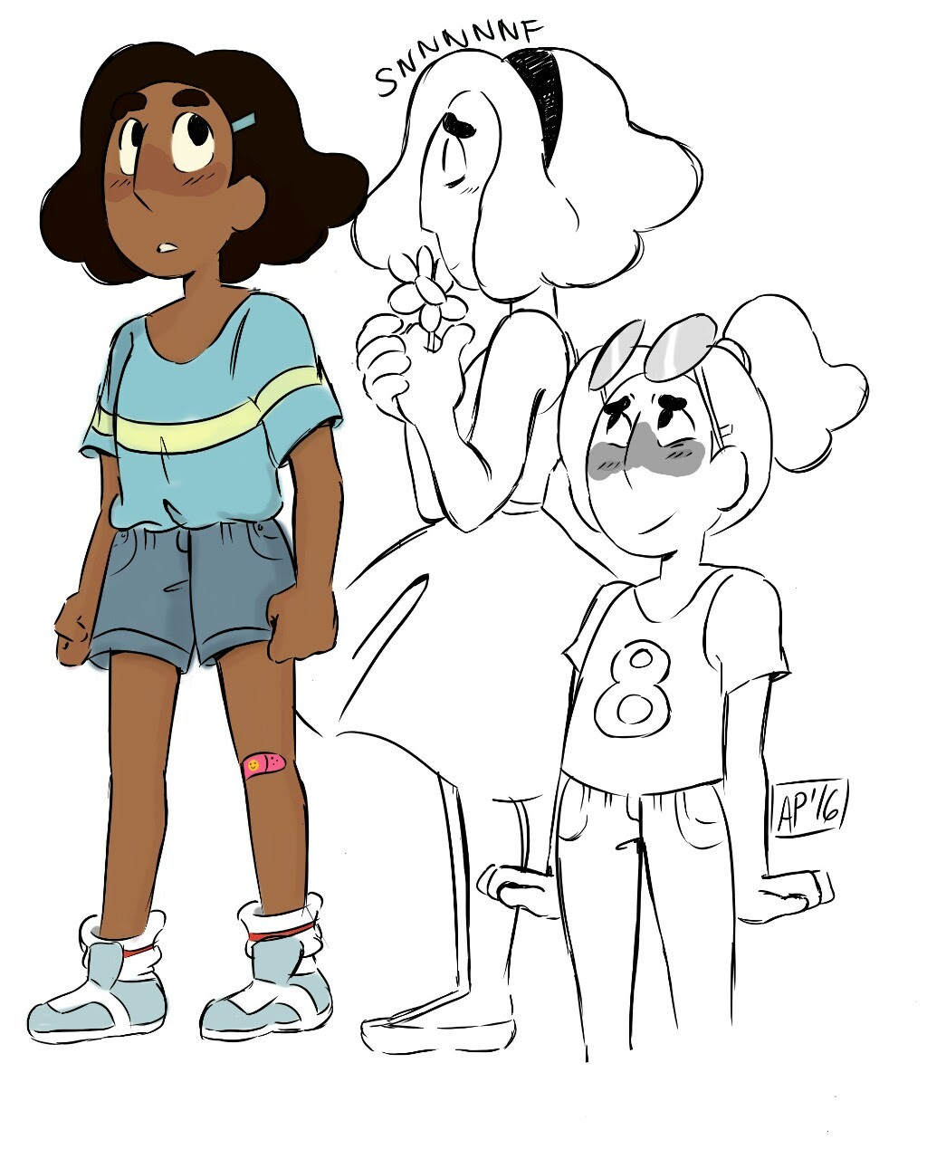 Short-haired Connie. Can this please be a thing? This new drawing application was the best thing to ever happen to me