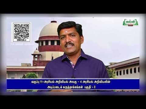 11th Political Science அறிவியலின் அடிப்படைக்கருத்தாக்கங்கள் அலகு 4 பகுதி 1 Kalvi TV
