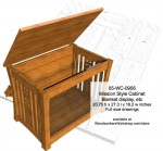 Mission Style Display Cabinet Woodworking Plan - fee plans from WoodworkersWorkshop® Online Store - blanket boxes,storage chests,Mission style furniture,solid wood,patterns,drawings,plywood,plywoodworking plans,woodworkers projects,workshop blueprints