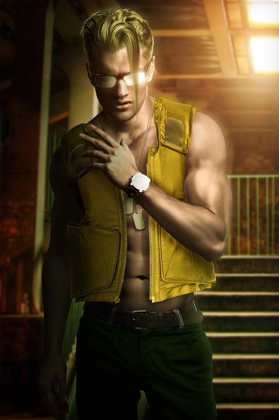 04 Charlie Street Fighter Art in 24 Hyper Realistic Examples of Street Fighter Characters Art