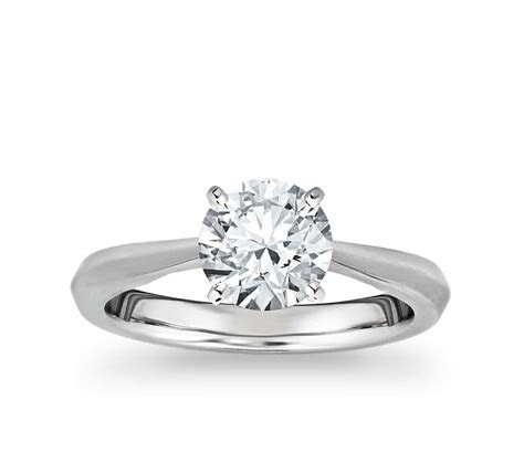 Truly Zac Posen Knife Edge Solitaire Engagement Ring in