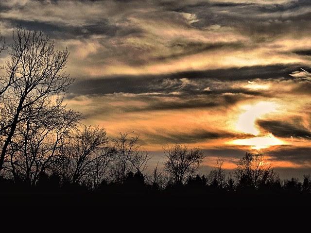 Batavia Sunset HDR 20121118