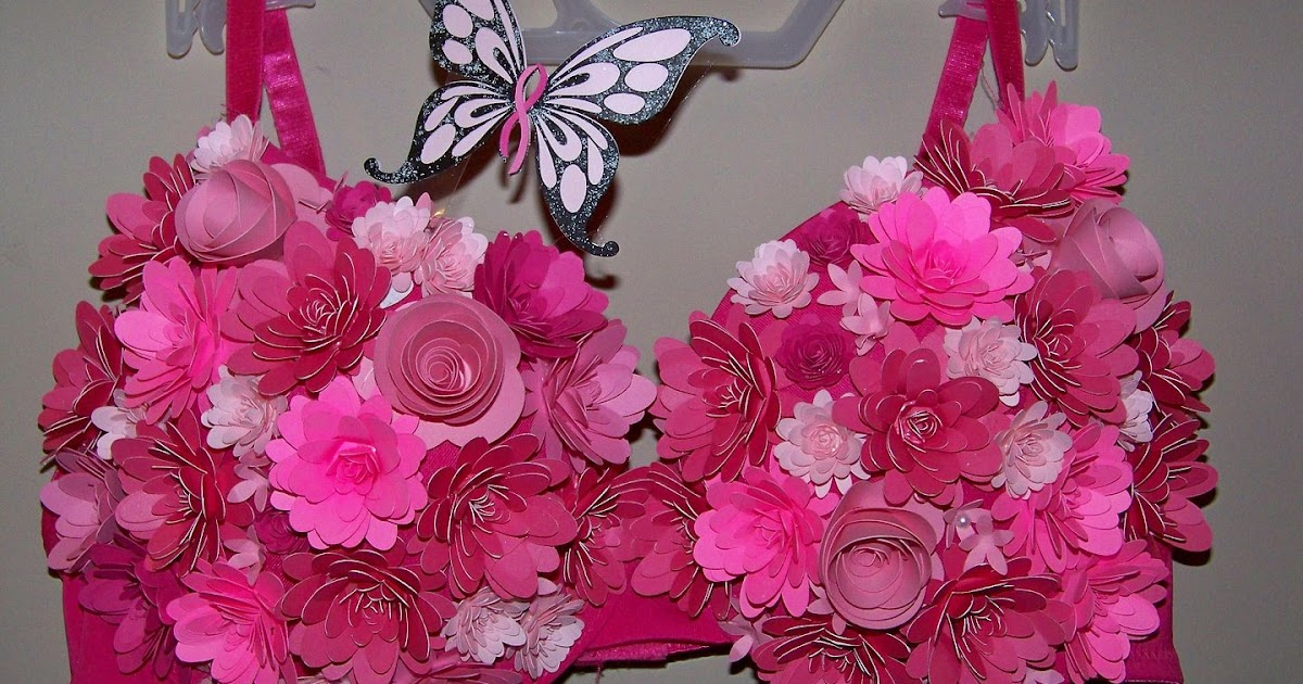 with glittering eyes decorated bras for breast cancer. Black Bedroom Furniture Sets. Home Design Ideas