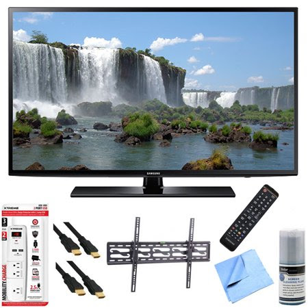 Samsung UN48J6200 - 48-Inch Full HD 1080p 120hz Smart LED HDTV Tilt Mount\/Hook-Up Bundle includes UN48J6200 48-Inch 120hz Full HD 1080p Smart TV, Flat & Tilt Wall Mount Kit, 6 Outlet\/2 USB Wall Tap a