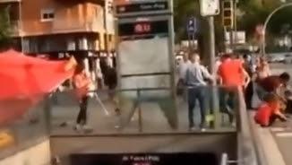 L'agressió a seguidors de la selecció espanyola, dissabte passat a Sant AndreuL'agressió a seguidors de la selecció espanyola, el dissabte 4 de juny a Sant Andreu