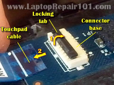 Laptop Repair How To Repair Broken Touchpad Connector On