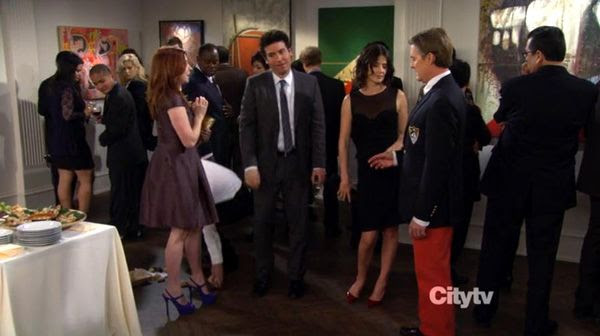 A screenshot from HOW I MET YOUR MOTHER (Episode 8.17 - 'The Ashtray' - Original Air Date: February 18, 2013). I played an art gallery patron.