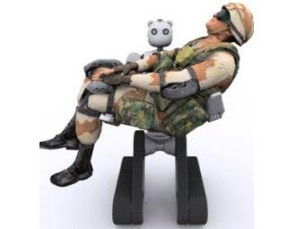 Uno de los robot prototipo para la evacuación militar de los soldados heridos, foto de robotster.org