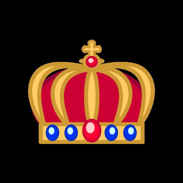ソフトタッチでかわいい王冠2の無料イラスト商用フリー オイデ43