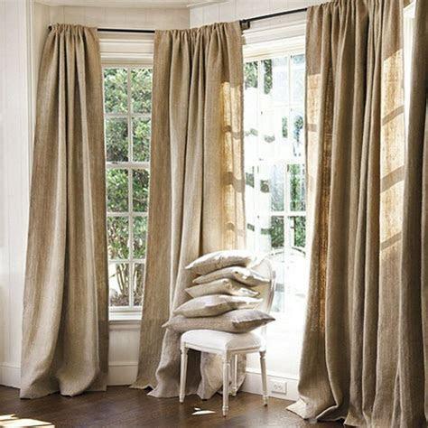 burlap drape panels wxl curtains handmade rustic