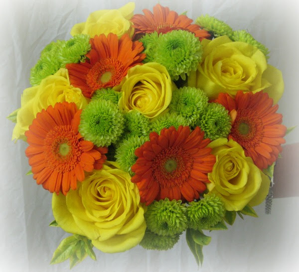 Orange Yellow And Green Bouquet