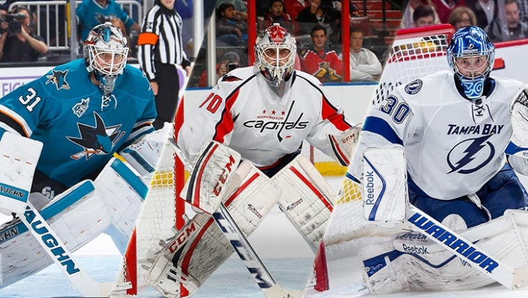 Martin Jones, Braden Holtby et Ben Bishop