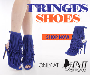 Shop AMIclubwear.com for great deals on fashionable fringed shoes!