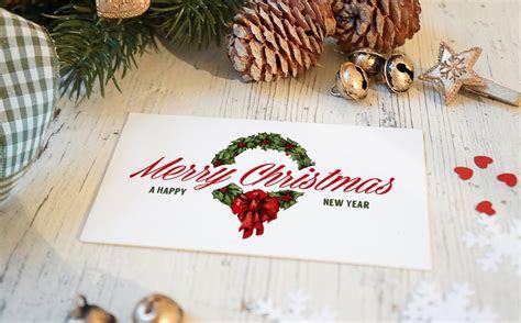 Christmas New Year Card Mockup ~ Product Mockups on