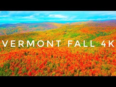 A Stunning Fall Foliege Aerial Video in Vermont
