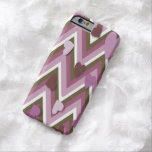 Mauve Hearts And Cheverons Barely There iPhone 6 Case