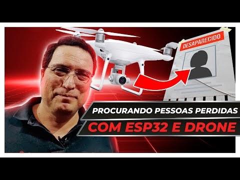 Procurando pessoas perdidas com ESP32 e Drone