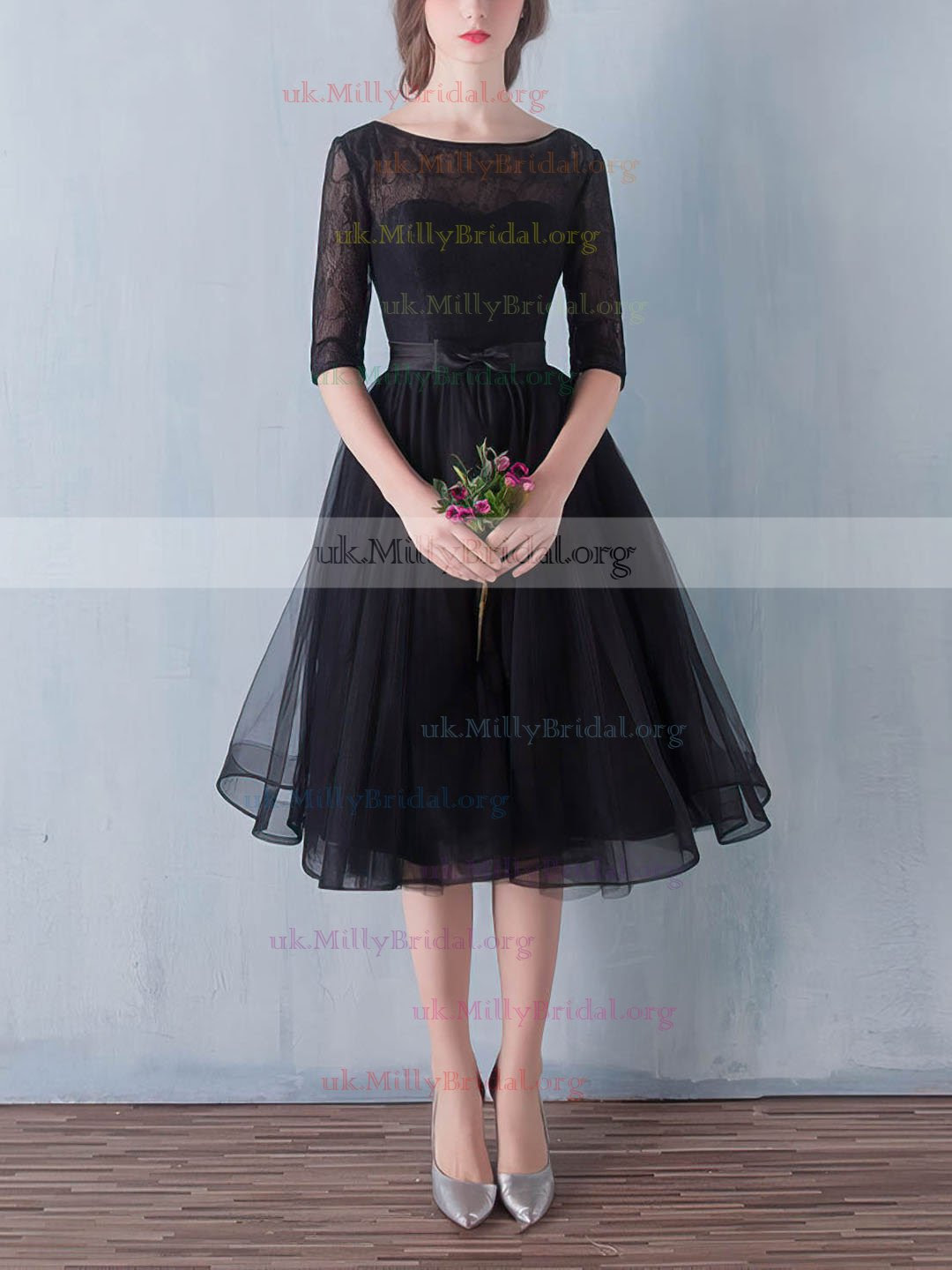 http://uk.millybridal.org/product/black-a-line-scoop-neck-lace-tulle-sashes-ribbons-knee-length-1-2-sleeve-simple-prom-dresses-ukm020102872-19290.html