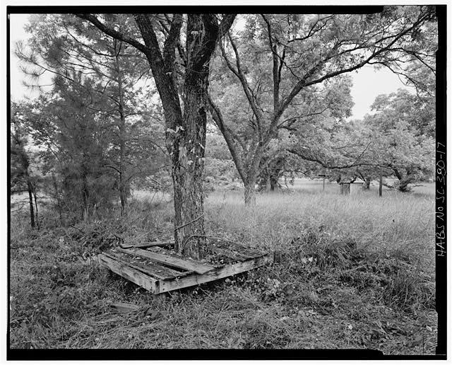 17.  Bench north of house HABS SC. 1-LOWN. V, 2H - Harper-Featherstone Tenant Farm, County Road 81, Lowndesville, Abbeville County, SC