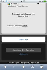 Blogger Template Gadget 3 in Mobile Safari 4