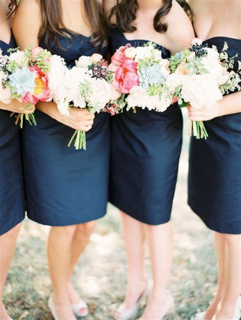 Molly & Jeremy   The flowers, Blue bridesmaid dresses and