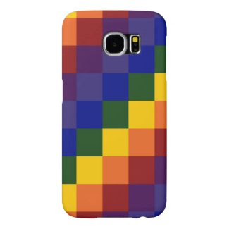 Checkered Rainbow Samsung Galaxy S6 Cases