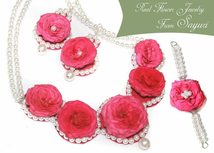 real rose necklace