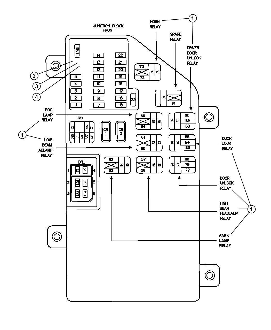 Chrysler Concorde 1997 Wiring Diagram - Wiring Diagram