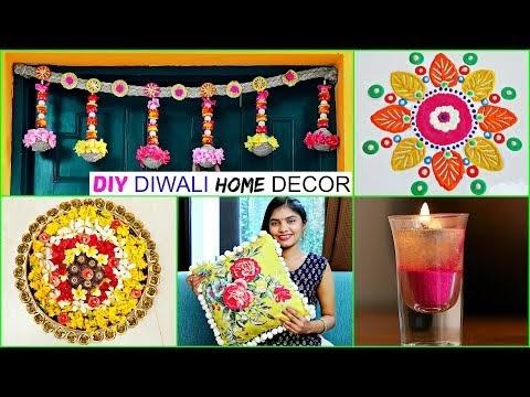 DIY Diwali Home Decor Ideas - Floating Candle, Bandhanbar, Cushion Cover