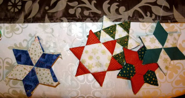 English paper piecing - christmas stars