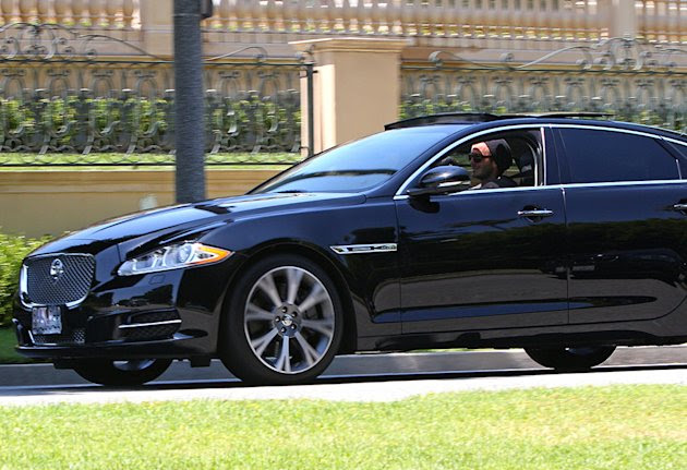 David Beckham Takes His Jaguar …