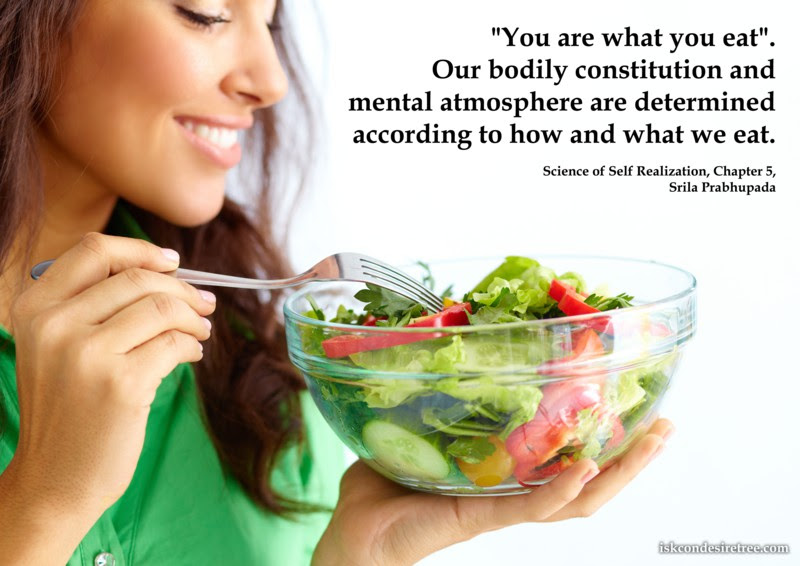 Importance Of Eating Proper Food Spiritual Quotes By Iskcon Desire
