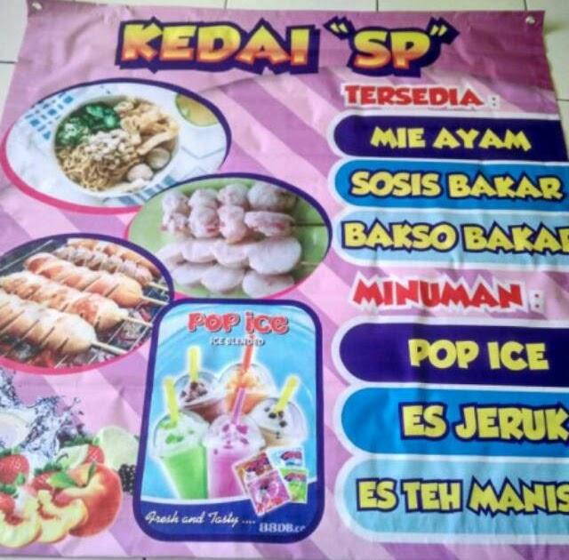 Contoh Banner Minuman Pop Ice - gambar contoh banners