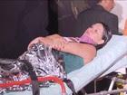 Tenda desaba e 39 pessoas ficam feridas em Brasília (Reprodução GloboNews)