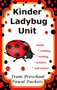 kindergarten ladybug unit from preschool powol Packets