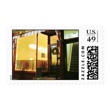 Bridge Street Café – Magic in the Night Postage Stamp