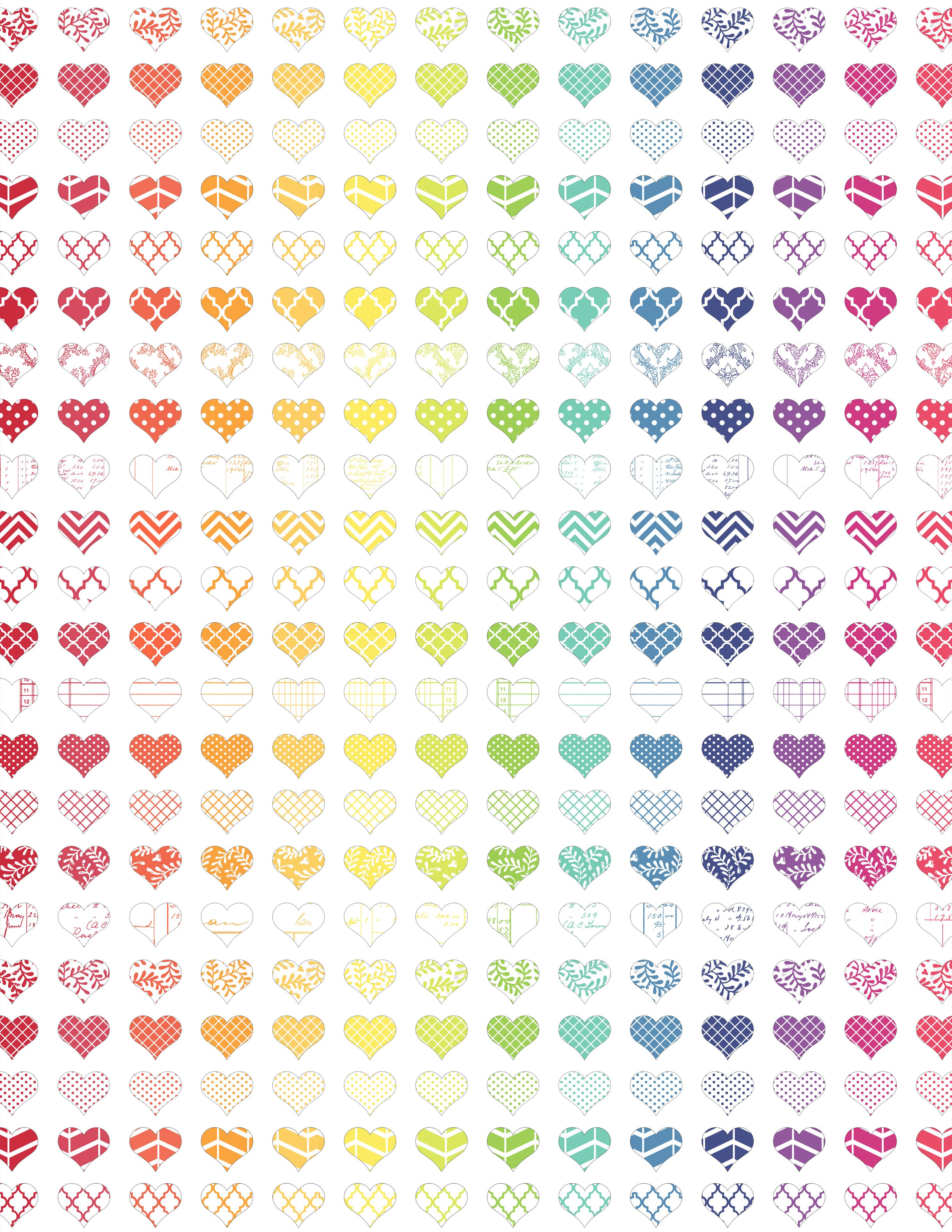 JPG rainbow hearts standard size melstampz
