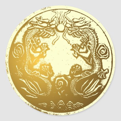 Golden Dragons Envelope Sealer sticker
