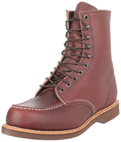 Red Wing Shoes Men's 200 8 Moc Boot,Oxblood Mesa,9 D US