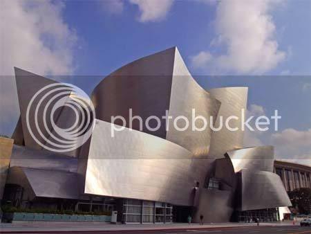 weird building design Disney Concert Hall