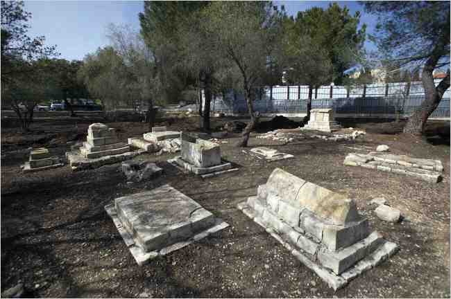 The Mamilla Cemetery in Jerusalem. Palestinians have asked the United Nations to help stop a Simon Wiesenthal Center project, the Center for Human Dignity - Museum of Tolerance. NYT Photo.
