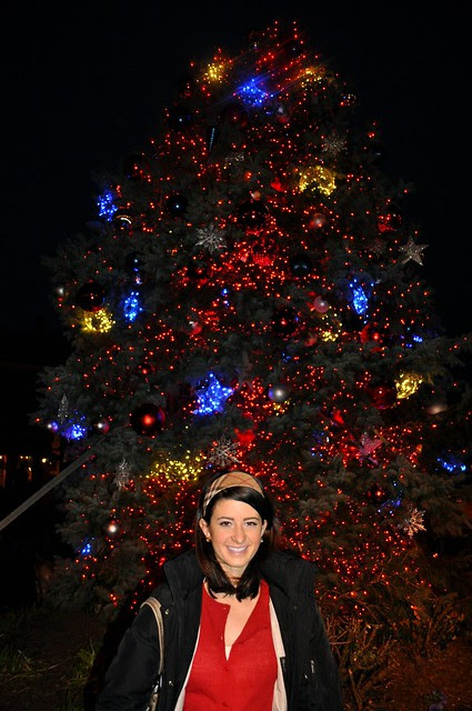 Me with Main Street Christmas Tree
