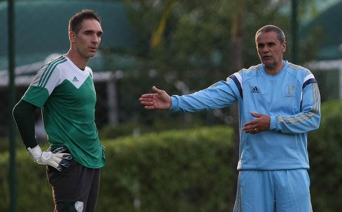 Fernando Prass Oscar Rodriguez Palmeiras (Foto: Cesar Greco/Ag Palmeiras/Divulgação)