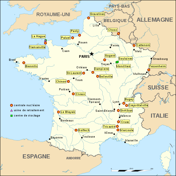 Fichier:Nuclear power plants map France-fr.svg