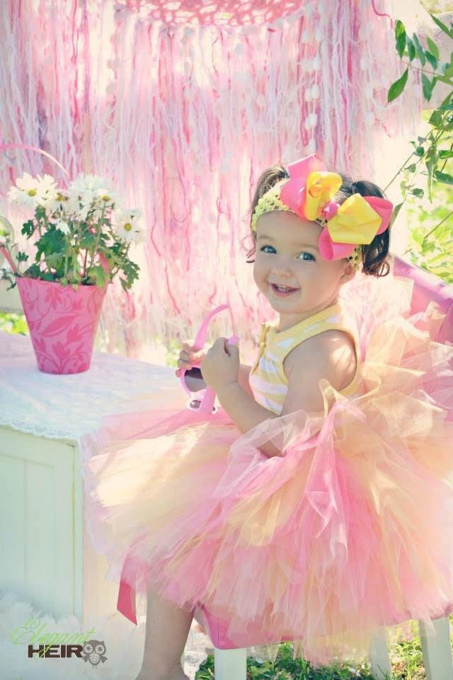 Pink Lemonade Tutu - Bubble Gum Tutu - Pink Tutu - Yellow Tutu - Tutu and bow Set - Size 2T - 5T - HypnoticDesigns