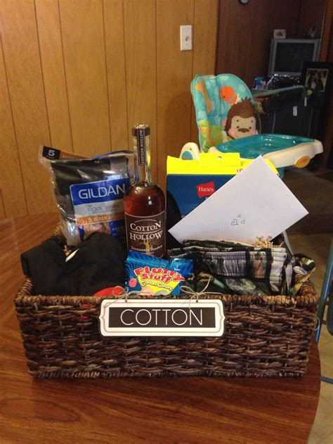 """""""Cotton"""" gift basket I put together for my husband for our"""