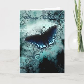 Butterfly Birthday Card - Blue Butterfly Birthday card