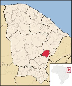 Localização de Jaguaribe